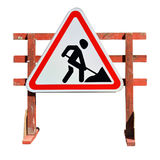 Work in progress. Roadworks Royalty Free Stock Images