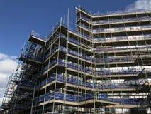 Edinburgh apartment block scaffolding Scotland UK royalty free stock photography