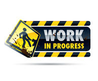 Work in Progress Sign. Sign, symbol or icon for work in progress Royalty Free Stock Photo