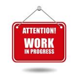 Work in progress sign Vector Illustration
