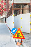 Work in progress sign on the road Stock Images