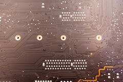 Work in progress. Soldering of electronic circuit board with components. Engineers repair circuit board with soldering iron stock photos