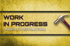 Work in progress under construction website Royalty Free Stock Photos