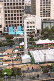 Work in progress in Union Square, San Francisco Royalty Free Stock Photo