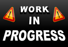 Work in progress Royalty Free Stock Photo