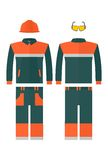 Work protective suit reflecting strips. Stock Images