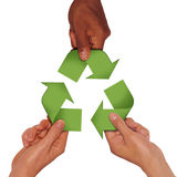 Work for recycle. Work together for the recycle system Royalty Free Stock Image