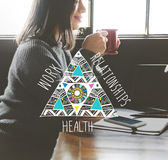 Work Relationships Health Balance Equal Stable Concept Royalty Free Stock Image