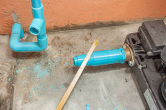 Work on Repair Pipe Stock Photo