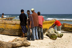 Work in  republica dominicana Stock Photo