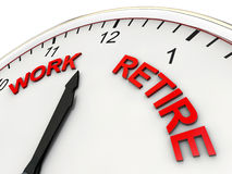 Work and Retire Stock Image