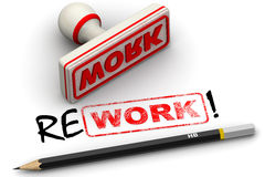 Work and rework. Corrected seal impression Royalty Free Stock Photography