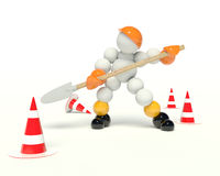 Work on the road Royalty Free Stock Images