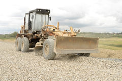 Work road machines. Road construction machinery during construction Stock Photography