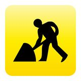 Work at road web button Royalty Free Stock Images