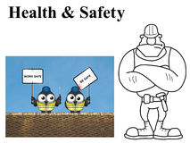 Work safe be safe Royalty Free Stock Photography