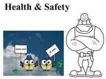 Work safe be safe Stock Image