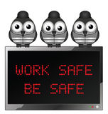Work safe be safe Stock Photography