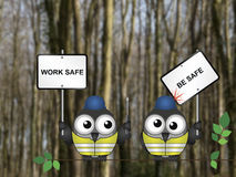 Work safe be safe Royalty Free Stock Photo