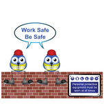 Work safe message Royalty Free Stock Image