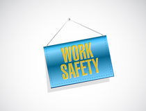 8work safety banner sign concept illustration Stock Photos