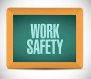 Work safety board sign concept illustration. Design over white Royalty Free Stock Photos