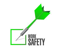 Work safety check dart concept illustration design. Over white Stock Photos