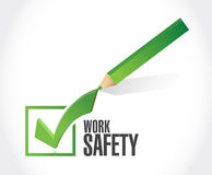 Work safety check mark concept illustration Stock Photo