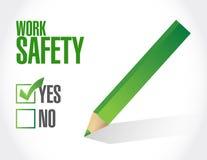 work safety check mark sign concept Royalty Free Stock Photos