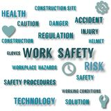 Work safety concept poster royalty free illustration
