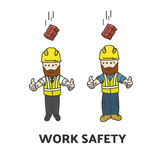 Work safety illustration Royalty Free Stock Photography