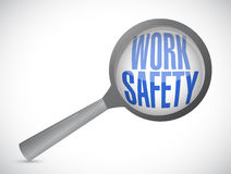 Work safety magnify glass illustration. Design over white Stock Photography