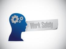 Work safety mind concept illustration design. Over white Stock Image