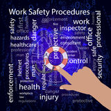 Work Safety Procedures concept. Vector Royalty Free Stock Photo