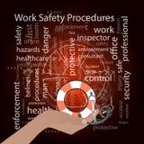 Work Safety Procedures concept. Vector Stock Photo