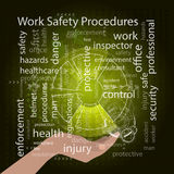 Work Safety Procedures concept. Vector illustration Royalty Free Stock Photography
