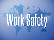 Work safety sign illustration design Royalty Free Stock Photos