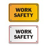 Work safety signs. Suitable for signs and symbols Stock Images