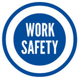 Work safety symbol. Blue work safety symbol concept Royalty Free Stock Photo