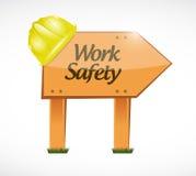 Work safety wood sign concept illustration Stock Images