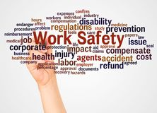 Free Work Safety Word Cloud And Hand With Marker Concept Royalty Free Stock Photo - 133810545
