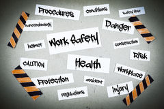 Work Safety Word Cloud Background Royalty Free Stock Images