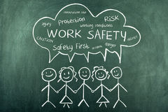 Work Safety Word Cloud Background Royalty Free Stock Image
