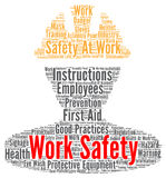 Work safety word cloud. Concept vector illustration