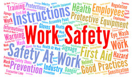 Work safety word cloud Royalty Free Stock Photo