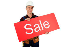 Work sale Royalty Free Stock Photo