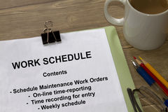Work Schedule Royalty Free Stock Photos