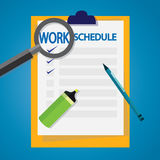 Work Schedule List stock illustration