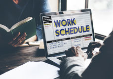Work Schedule Management Organization Concept Royalty Free Stock Photos