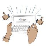 Google search illustration vector illustration